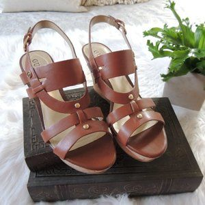 Guess leather and cork wedges size 8.5  NWOT